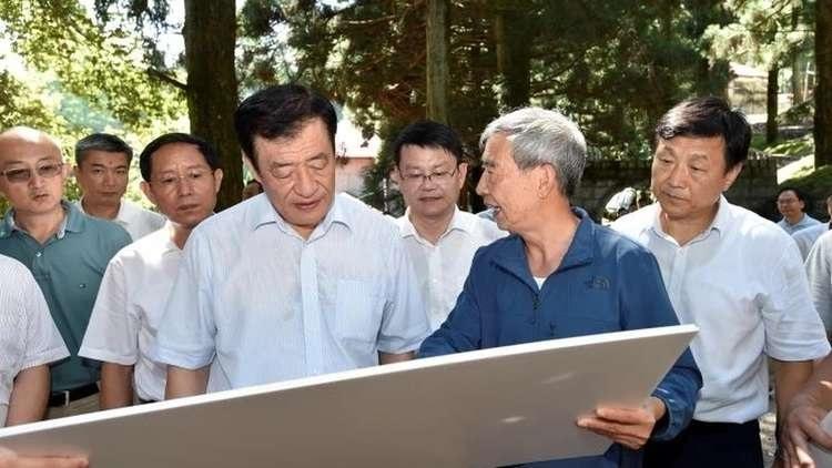 江西省省委书记刘奇在庐山植物园调研